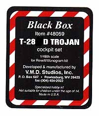 Black Box #48059 1/48 T-28D Trojan Cockpit Set