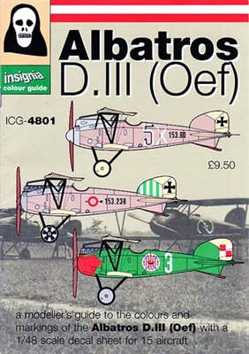 Blue Rider Insignia Colour Guide #4801 1/48 Albatros D.III (Oef) Book & Decal Set