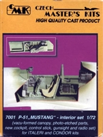 CMK #7001 1/72 P-51 Mustang Interior upgrade