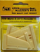 CMK #7179 1/72 B-26F/G Marauder Control Surfaces