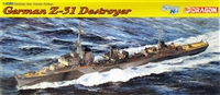DML/Dragon #1054 1/350 German Z-31 Destroyer - WWII