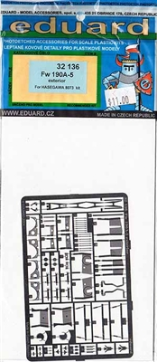 Eduard #32136 1/32 Focke Wulf Fw 190A-5 Exterior Photo Etch Set