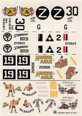 Esci #12 1/72 USA: B-24 Liberator Decal Sheet