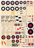 Esci #28 1/72 Great Britain: Hawker Tempest & Boomerang Decal Sheet