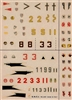 Esci #3 1/72 Germany: BF 109 - FW 190 Decal Sheet