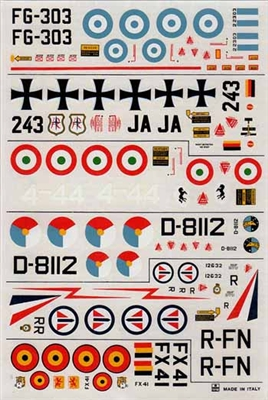 Esci #45 1/72 U.S.A.: Lockheed F-104 Starfighter Decal Sheet
