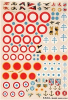 Esci #46 1/72 France: National Insignia & Victories Gained Decal Sheet