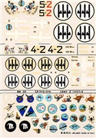 Esci #49 1/72 Italy: Cant Z. 1007 & BR.20 & Ca. 313/314 Decal Sheet