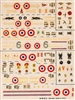 Esci #6 1/72 France: Morane Saulnier 406 & Dewoitine D. 520 Decal Sheet