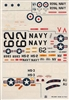 Esci #77 1/72 USA/Great Britain: Sikorsky Sea King S55 - Vertol 107 Decal Sheet
