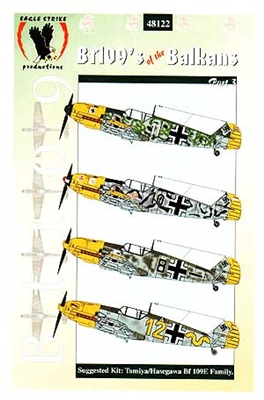 Eagle Strike Productions #48122 1/48 Bf109's of the Balkans Part III