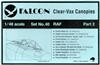 Falcon Canopy #40 1:72 RAF Part 2