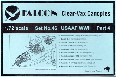 Falcon Canopy Set #27 1:72 WWII U.S.A.A.F. Part 4