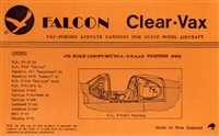 Falcon Canopy #6 1:72 WWII U.S.A.A.F. Fighters