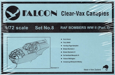 Falcon Canopy #8 1:72 WWII RAF Bombers
