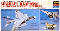 Hasegawa #X721 1/72 U.S. Aircraft Weapons: Bombs and Rocket Launchers