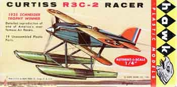 Hawk #620 1/48 Curtiss R3C-2 Racer