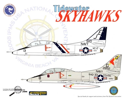 IPMS USA 2008 National Convention Virginia Beach, VA Tidewater Club Decal Sheet