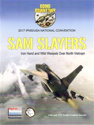 IPMS USA 2017 Nats Omaha, NE SAM Slayers 1/72 Decal Sheet