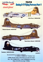 Lifelike Decals #72-014 1/72 B-17 Flying Fortress Part 1