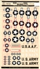 Microscale #72-2 1/72 U.S. Insignia Red Outline Decal Sheet