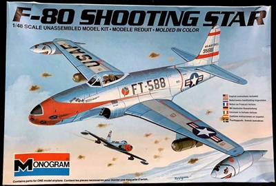 Monogram #5428 1/48 F-80 Shooting Star