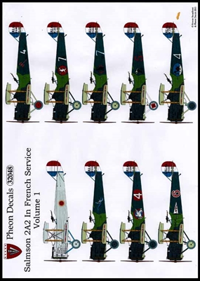 Pheon Decals #32048 1/32 Salmson 2A2 In French Service Volume 1