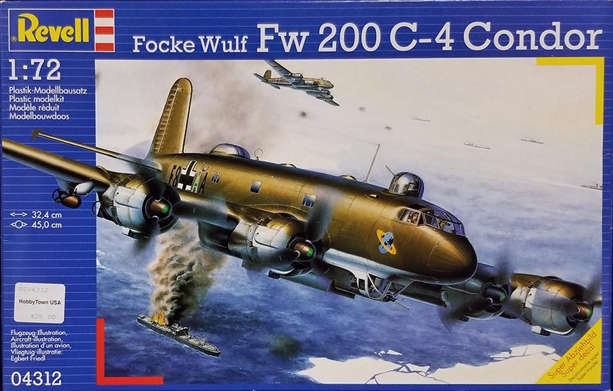 Revell #04312 1/72 Focke Wulf Fw 200 C-4 Condor