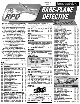 Rare-Plane Detective Report Catalog Subscription US Printed