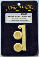True Details #48060 Heinkel He-111 Wheel Set