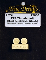 True Details #72005 1:72 P-47 Thunderbolt Wheels
