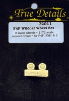 True Details #72011 1:72 F4F Wildcat Wheels
