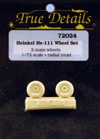 True Details #72024 1:72 Heinkel He-111 Wheels