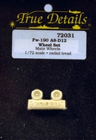 True Details #72031 1/72 Fw-190 A8-D12 Wheels