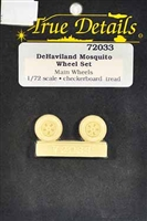 True Details #72033 1/72 DeHaviland Mosquito Wheel Set