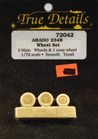 True Details #72042 1:72 Arado 234B Wheel Set
