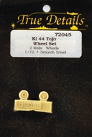 True Details #72045 1:72 Ki-44 Tojo Wheel Set