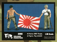 Verlinden Productions #2060 1/35 US Marines with Trophy - WWII