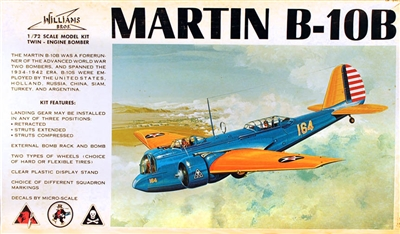 Williams Brothers  #72-210 1/72 Martin B-10B