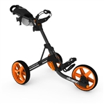 Clicgear Model 3.5+ Push Cart - Charcoal/Orange