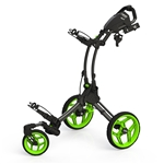 Clicgear Rovic Swivel RV1S Golf Push Cart - Charcoal/Lime