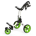 Clicgear Rovic Swivel RV1S Golf Push Cart - Arctic/Lime