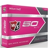 Wilson Staff Fifty Elite Pink Golf Balls - 1 Dozen