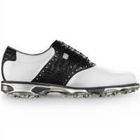 Footjoy Dryjoys Tour Men's Golf Shoes - White/Black Croc