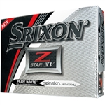 Srixon Z-Star XV Pure White Golf Balls - 1 Dozen