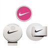 Nike Hat Clip and Ball Marker Set - Pink Pow/White