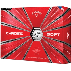 Callaway Chrome Soft 18 White Golf Balls - 1 Dozen
