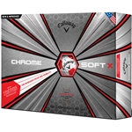 Callaway Chrome Soft X 18 Truvis Red Golf Balls - 1 Dozen