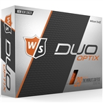 Wilson Staff Duo Soft Optix Orange Golf Balls - 1 Dozen