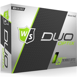 Wilson Staff Duo Soft Optix Green Golf Balls - 1 Dozen